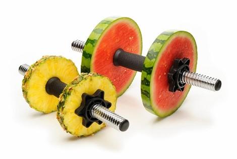 Haltères fruits