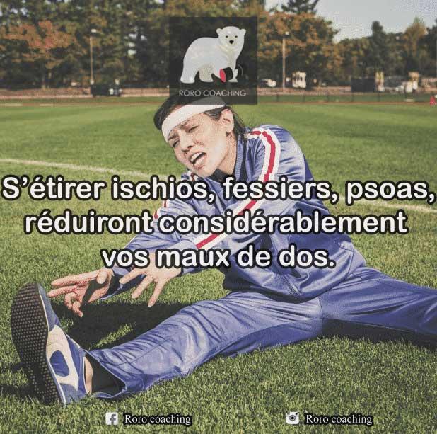 Mal de dos s'étirer coach sportif Lyon