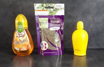 Soigner angine : Miel Thym et Jus de citron